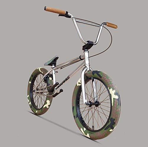 GASLIKE Bicicleta BMX de 20 Pulgadas para Hombres y niños: Desde Principiantes hasta avanzados con Asiento Ville BMX, Cadena K710, agarres cómodos y Pedales DK, Cuadro de absorción de Impactos CRMO