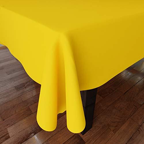 Encasa Homes Tovaglia Oxford in Cotone tovaglia di Cotone Semplice Colore per 6 a 8 posti a Sedere...