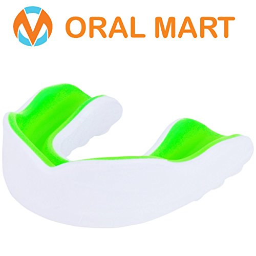 Oral Mart Sport Mundschutz für Erwachsener (Weiß/grün)