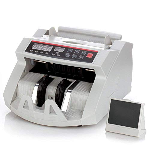 Flexzion Money Bill Counter Machine with Fake UV, MG, IR Counterfeit – Portable Digital Electronic Cash Currency…