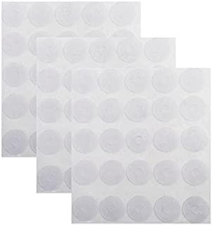 Mayam Adhesive Non-slip Grips for Quilt Templates Ruler Non-slip Adhesive Rings, Semi-transparent, 3 Sheets, 150 Pieces Total, 75 Large and 75 Small
