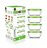 FOSA Vacuum Seal Food Storage System Reusable Small Containers, 4 pack, 20 oz size (Vacuum Pump not Included)