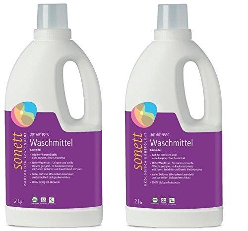 Sonett Waschmittel Lavendel 30 –95 °C, 2 x 2l
