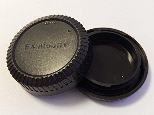 vhbw Objektiv Deckel Set mit FX-System für Kamera Fujifilm X-PRO1 Body, X-Pro1, X-T1, X-T 1, X-E2, X-E1, X-M1, X-A1, Fujinon Lens XF60mmF2.4 R Macro.