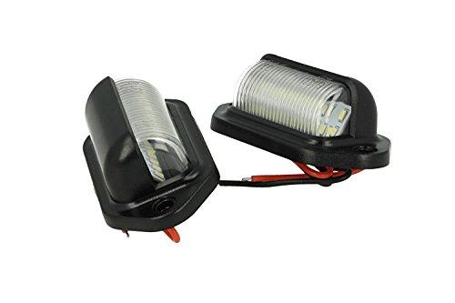 Kit kentekenplaatverlichting universeel 12 V 2 W lamp voor motorfiets auto aanhanger Furgone Boot CE E8