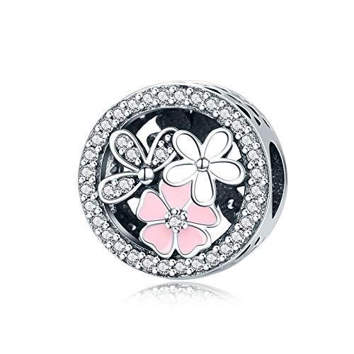 pandora 925 plata esterlina DIY colgante joyería beber perlas de coca grano rojo ajuste pulsera encanto joyería hacer c