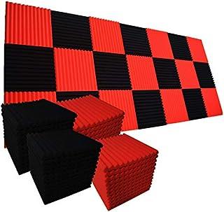 فوم صوتی 96 PACK فروش متوسط فوم ضد صدا (48 سیاه 48 قرمز)