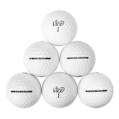 Vice Golfball-Mix – 100 Stück Near Mint Qualität gebrauchte Golfbälle (AAA Pro Pro Soft Tour Drive Golfbälle), weiß (100PK-Vice-3)