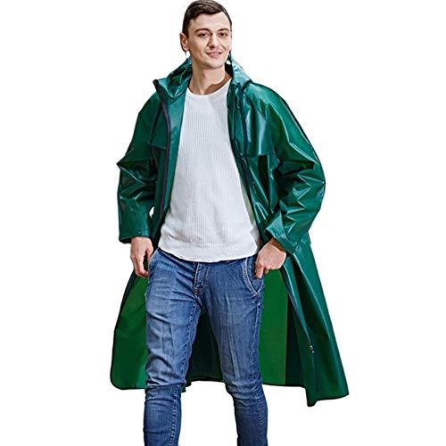Chubasqueros Hombre Impermeable,Impermeable de EVA para Senderismo, Puede Contener un Impermeable de Mochila, Adecuado para Unisex, Cuatro Colores Disponibles,Verde,XL