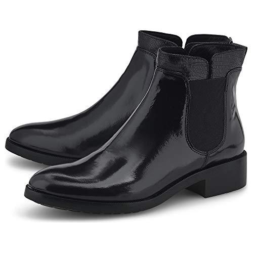 Belmondo Damen Chelsea-Boots Schwarz Glattleder 39