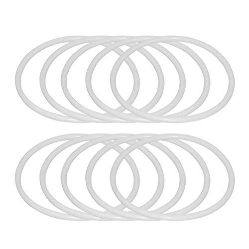 SUPVOX 30pcs Anelli Dreamcatcher Anelli Cerchi in plastica Macrame Anelli Cerchi per Fai da Te Forniture acchiappasogni Sogno (6 cm)
