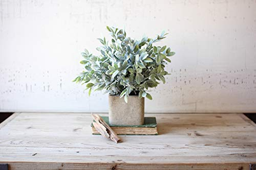 GwG Outlet Artificial Sage Bush in A Square Pot CNL1010