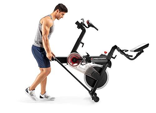 ProForm Vélo de Biking Power 10.0-connecté-Compatible iFit Smart Cardio-Ecran Tactile 10'' -abonnement 1an Inclus pour des entraînements et vidéos coachées Adulte Unisexe, Noir, 143 X 56 X 139 cm