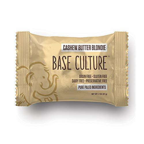 Paleo Brownie Cashew Butter 'Blondie'   All Natural 100% Paleo, Gluten, Grain, Dairy, and Soy Free & No Preservatives (6g Protein per Serving, 20 Count)