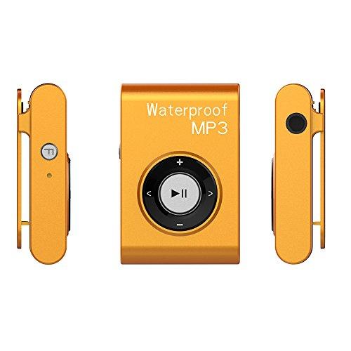 Lecteur Mp3 Etanche, 16Go Baladeur Mp3 Waterproof pour Natation (Piscine) et Sports, Ultra Portable,...