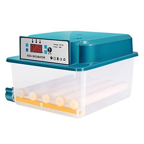 Kacsoo 16 Eier Automatische doppelte elektrische Eierinkubatoren Digital Hatcher mit Flipper Thermostatischer Inkubator mit hoher Schlupfbarkeit zum Schlüpfen von Gänse- und Wachteleiern Eierinkubator