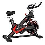 Bicicleta de ejercicio, Bicicleta de ciclismo interior estacionaria, Cojín cómodo de asiento, manillar multi-agarre, volante pesado, tracción en la correa, resistencia infinita, pantallas LCD