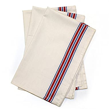 Aunt Martha's 18 x28  Americana Striped Dish Towels Pkg of 3