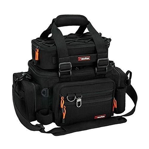 KTESL Grande Capacité De Pêche Sac Portable Multifonctions Boîte À Appats Sac Polyvalent Randonnée en Plein Air Camping (Color : Black)