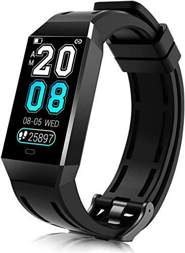 Pulsera de fitness con monitor de frecuencia cardíaca, reloj inteligente impermeable IP68 de 1,14 pulgadas, pantalla a color, rastreador de actividad,...