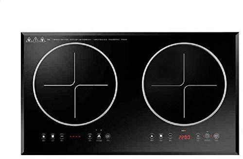 ZYLBDNB Induktionskochfeld, eingebetteter Induktionsherd 4400W Hochleistungselektroherd mit temperierter Glasplatte Touch Control,Black,Black