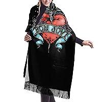 ボン・ジョヴィ スカーフ マフラー 女性 タッセル ストール 大判 軽量 ファッション ショール ソフト ハンカチ 暖かい 肌触り良く 羽織 冬定番 カシミアふり 秋冬 お祝い 華奢 旅行 通勤通学 冷房対策 ブランケット兼用