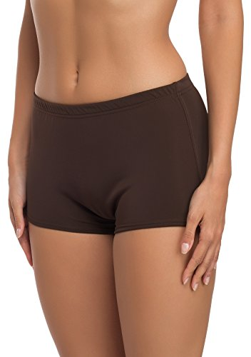 Merry Style Damen Badeshorts Bikinihose Modell L23L1 (Braun (8157), 36)