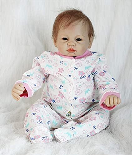 ZIYIUI Muñeca Reborn bebé Chica Vinilo Silicona Realista Niña Muñecos Reborn Baby Dolls 21 Pulgadas Niños Juguete