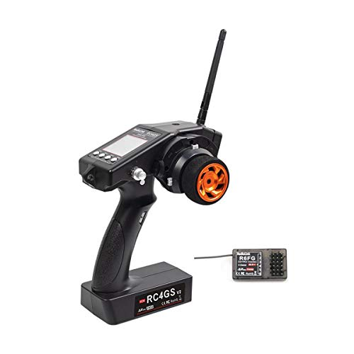 RadioLink RC4GS V2 2.4G 4CH Pistol Grip RC Controller Transmitter W/R6FG Gyro Inside Receiver for RC Car Boat