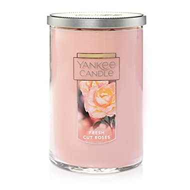 Yankee Candle Large 2-Wick Tumbler Candle, Fresh Cut Roses
