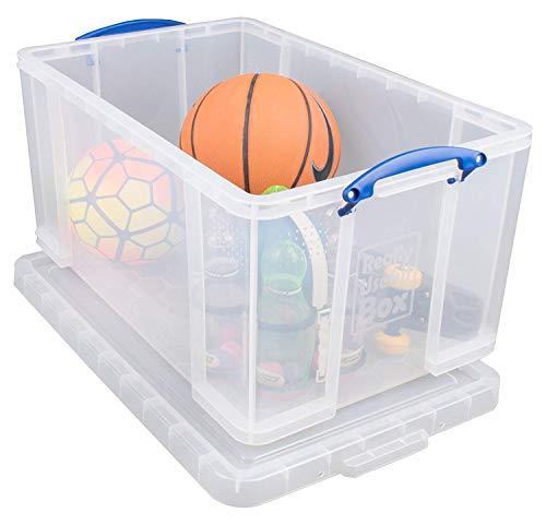 Really Useful Box 84CCB Aufbewahrungsbox für Kleidung, Schuhe, Spielzeug, 84 L, klar transparent