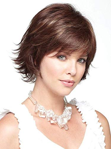 Ryan Monofilament Synthetic Wig by Noriko in Chocolate Swirl, Cap Size: Average, Length: Short