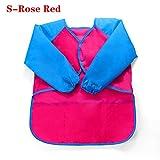 Lemon-Land - Delantal Impermeable para niños, plástico, S-Rose Red