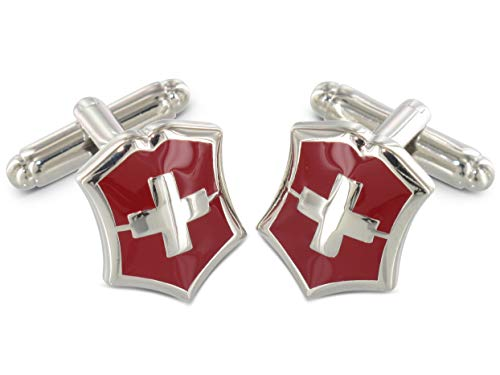 Teroon Manschettenknöpfe Schweiz Flagge