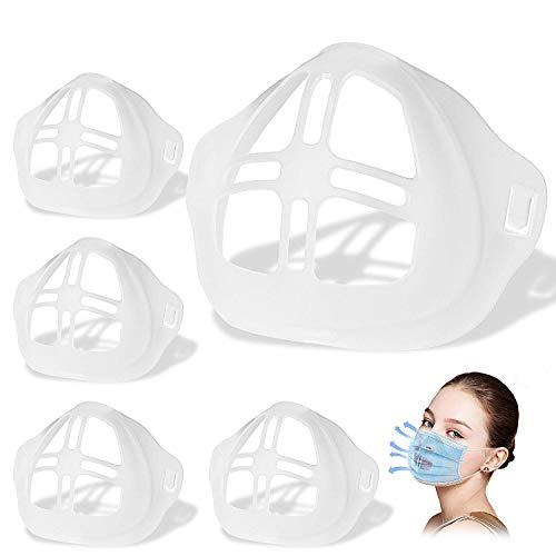 oporte 3D para uso cómodo de mascarilla, marco de soporte interior de silicona para mascarilla