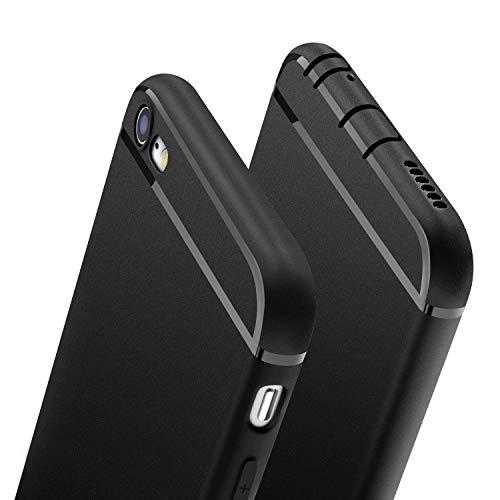 Wsky Hülle für iPhone 6S iPhone 6, Handyhülle für iPhone 6S iPhone 6 Ultra Dünn Schutzhülle, Staubschutz, Stoßdämpfend, Anti-Scratch, Soft Cover für iPhone 6/6S, Schwarz(4,7 Zoll)