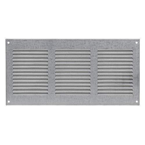 300x150mm Verzinkt Lüftungsgitter Abschlussgitter Insektenschutz Metall Abluft Zuluft Gitter