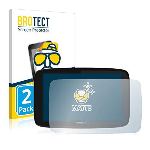 BROTECT Protector Pantalla Anti-Reflejos Compatible con Tomtom GO 520 / GO 5200 (2 Unidades) Pelicula Mate Anti-Huellas