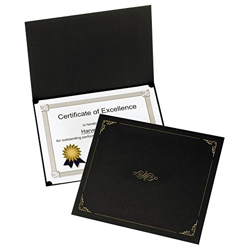 Oxford Certificate Holders, Black, Letter Size, 5 per Box (29900055BGD)