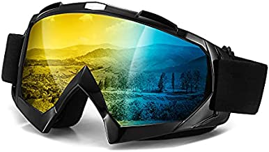 Dirt Bike Goggles, Windproof Motorcycle Goggles,Dustproof Motocross Goggles, UV Protective ATV Goggles with OTG