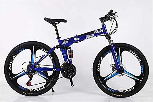 Juventud / Adulto 21-Velocidad 26 pulgadas 3 rueda de cortador Bicicleta de montaña multifuncional de una sola rueda, bicicleta de montaña plegable de multicolor Adulto Conducción de la bicicleta Soft