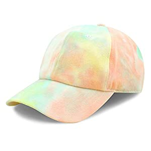 The Hat Depot Kids Washed Low Profile Cotton & Denim & Tie Dye Plain Baseball Cap Hat