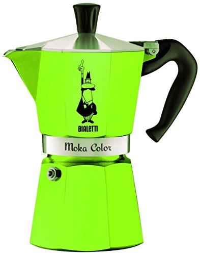 Bialetti 9122 Moka Express Color Espressokocher, Aluminium, 3 Cups, grün
