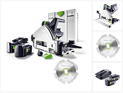 Festool TSC 55 Li REB Akku Tauchsäge 36V (2x18V) (2201395) 160 mm Brushless im Systainer + Diamant-Sägeblatt + 2x 5,2Ah Akku + Ladegerät