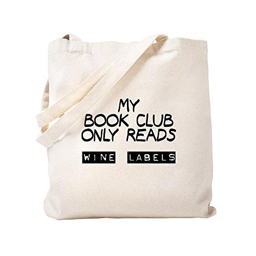 CafePress My Book Club liest Weinetiketten, Tragetasche, canvas, khaki, Größe S