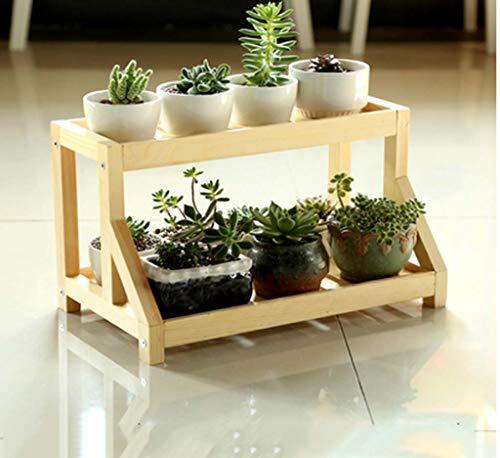 YINUO Original Desktop Mini Massivholz Blume Ständer Rack Einfache mehrschichtige Montage Flesh Fensterbank Blume Stehen Holz Blume Ständer (Color : Varnish Color)