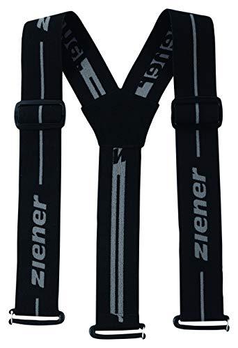 Ziener Braces Teamwear, Bretelle | Regolabili, Rimovibili, Passanti per Cintura. Bambini, Nero, S