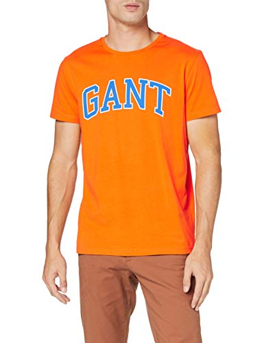 GANT Arch Outline SS T-Shirt Camiseta para Hombre