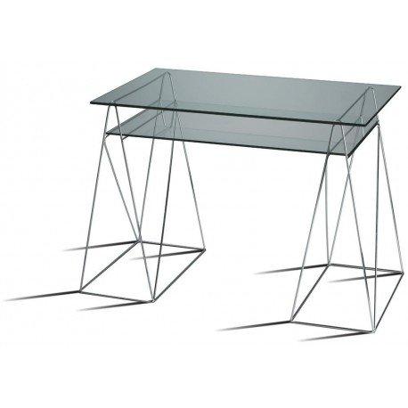 Mesa de mesas de Estudio Base caballetess Doble Cristal kme122001-DESKandSIT-