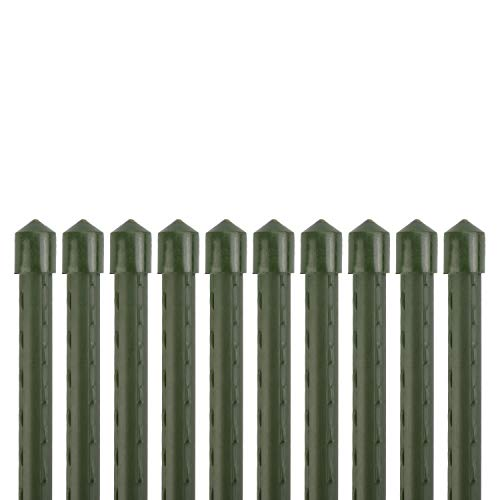Sekey Pflanzenstäbe Gartenpflanze Unterstützung beim Wachsen von Pflanzen, Kunststoff beschichtetes Stahlrohr 11mm Durchmesser. 145 cm Lange Packung 10